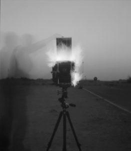 Steven Pippin, Autoportrait (on fire), 2013.