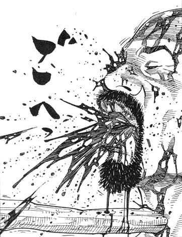 Abb. 2: DOKA, zu Deutsch: BAMM Die mit japanischen Katakana belassene deutsche Übersetzung von Vagabond, neben der amerikanischen Übersetzung. (erschienen bei Egmont Manga & Anime / © I.T. Planning Inc.)