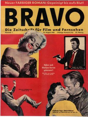 Erste Ausgabe der BRAVO - Die Zeitschrift für Film und Fernsehen vom 26. August 1956