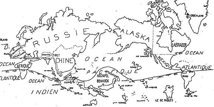 SURREALER WELTENTWURF: Die Weltkarte die Yves Tanguy 1924 entworfen hat, stellt die Sicht auf unsere Welt radikal infrage und kann als surrealistisches Manifest verstanden werden.