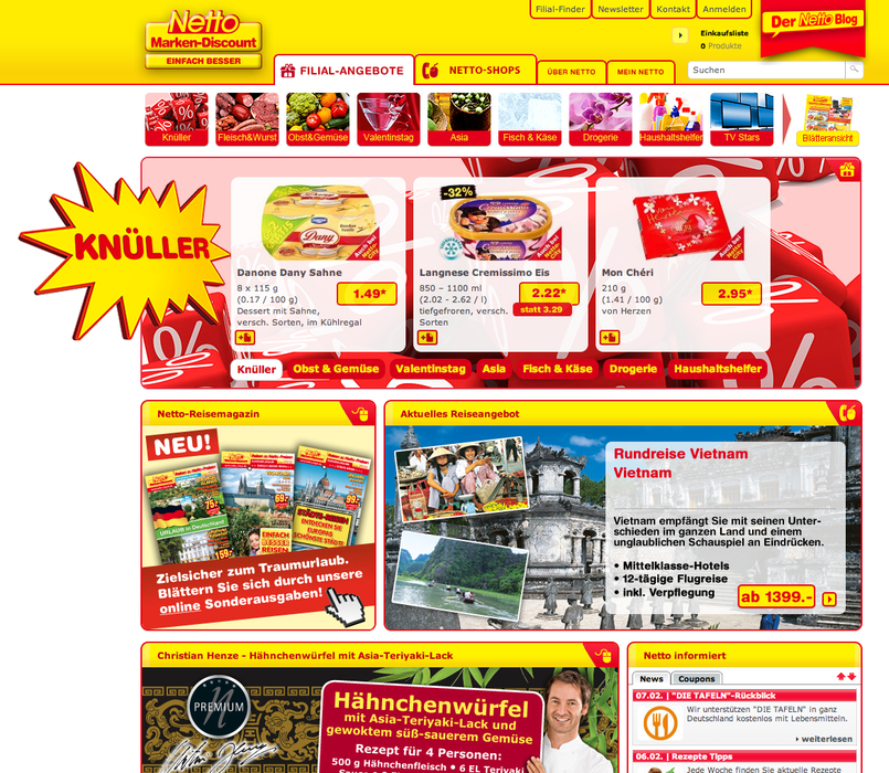 Website von «Netto Marken-Discount»