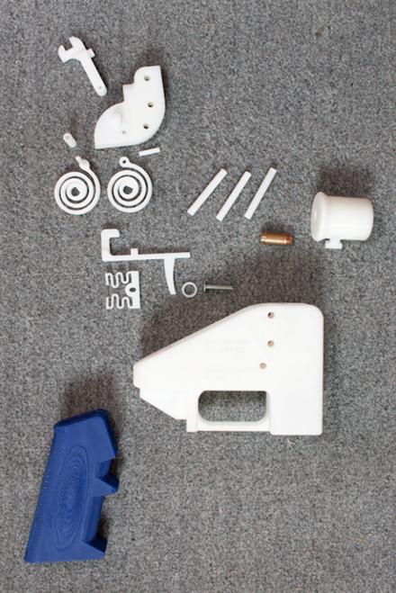 Einzelteile der mit einem 3D-Drucker hergestellten Waffe «Defender».