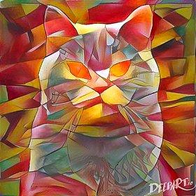 """© Deep Art """"Chat-fleur"""""""