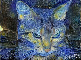 "© Deep Art ""Chat-Gogh"""