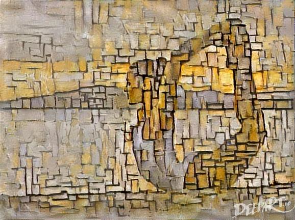 """© Deep Art """"Mondrian danse ?"""""""